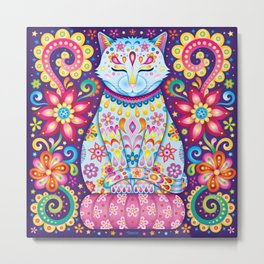 Zen Cat Metal Print