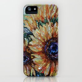 Ah, Sunflower by Lena Owens iPhone Case