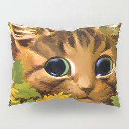 "Louis Wain's Cats ""Tabby in the Marigolds"" Pillow Sham"