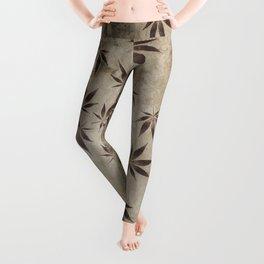Marijuana Marble Leggings