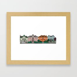 New Bedford Houses Framed Art Print