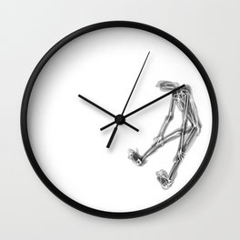 exhausted figure Wall Clock