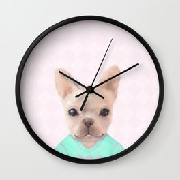 Portrait Of French Bull Dog Wall Clock