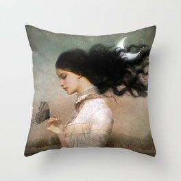 she likes the night Throw Pillow