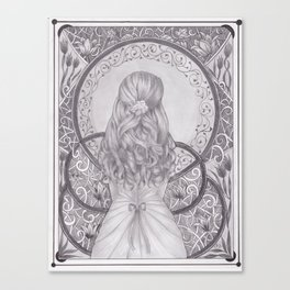 Art Nouveau Girl Canvas Print