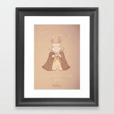 Christmas creatures- Bunny The Magician Framed Art Print