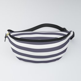 Blue , white , striped Fanny Pack