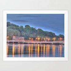 The Bridge over the Quay at Dusk Art Print