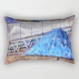 Beach Umbrellas In Impressionist Style Rectangular Pillow
