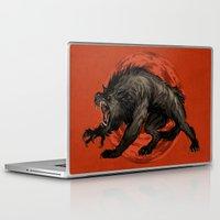 werewolf Laptop & iPad Skins featuring werewolf by panthervogel
