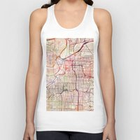 kansas city Tank Tops featuring Kansas City by MapMapMaps.Watercolors