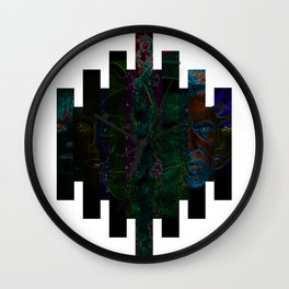 Faces of Outer Space Wall Clock