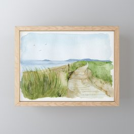Inverness Beach Framed Mini Art Print