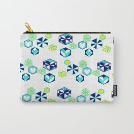 Winter Love Hexagon Snowflakes - Rasha Stokes Carry-All Pouch