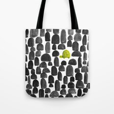 Turtle in Stone Garden Tote Bag