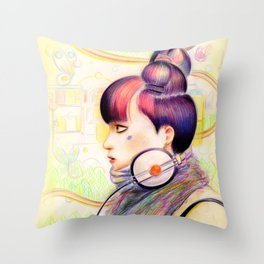 Sweet Dj Throw Pillow