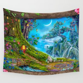 Day Moon Haven Wall Tapestry