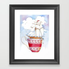 Ship in a Cup Framed Art Print