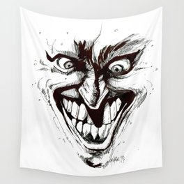 """Turn that Smile Upsidedown"" Wall Tapestry"