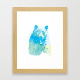 brushed bear Framed Art Print