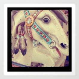 Native Carousel Art Print