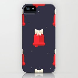 Red Christmas Bell Pattern iPhone Case
