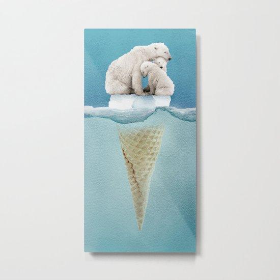 polar ice cream cap 02 Metal Print