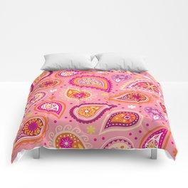 Colorful summer paisleys Comforters