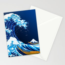 The Great Wave off Kanagawa (Bright & Colorful) Stationery Cards