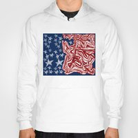 american flag Hoodies featuring American Flag by Brontosaurus