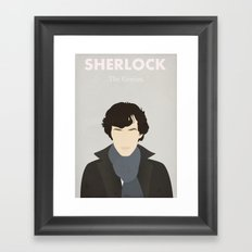 Sherlock - The Genius Framed Art Print