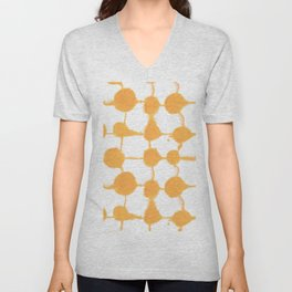 Connect Dots Yellow Unisex V-Neck