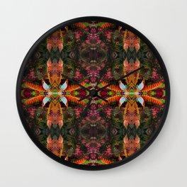 267 - Abstract foliage pattern Wall Clock