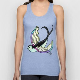 Black swallow odl school Unisex Tank Top