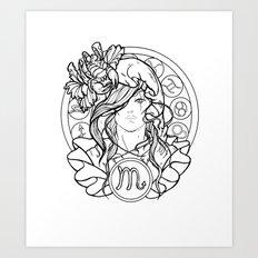 Zodiac Series | Scorpio Art Print