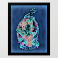 kiss Art Prints featuring Waiting For Loves True Kiss by Tim Shumate