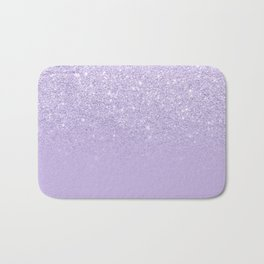 Stylish purple lavender glitter ombre color block Bath Mat