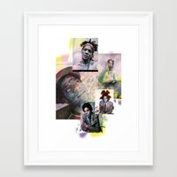 basquiat Framed Art Prints featuring Basquiat by Andrew Spangler