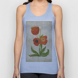 Vintage painting - Bunch of poppies Poppy Flower floral Unisex Tank Top