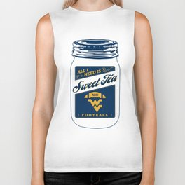 all i need sweet tea and football soccer player team bottom football Biker Tank