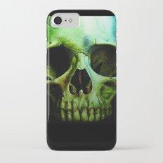 green skull Slim Case iPhone 8