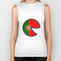 portugal Biker Tanks featuring Portugal Smile by onejyoo