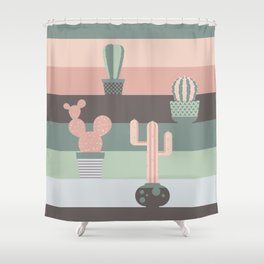 cacti colors Shower Curtain