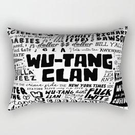 Rap lyrics Rectangular Pillow