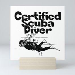 Certified Scuba Diver Mini Art Print