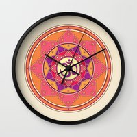 ohm Wall Clocks featuring Ohm by TypicalArtGuy