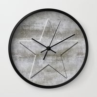 solid Wall Clocks featuring Solid Star by LebensART