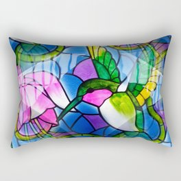 Humming Bird & Fuchsia Rectangular Pillow