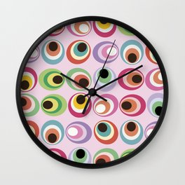 Midcentury abstract art: 1969 Wall Clock