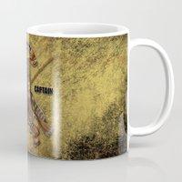 hufflepuff Mugs featuring Hufflepuff  Hogwarts Team Captain by JanaProject